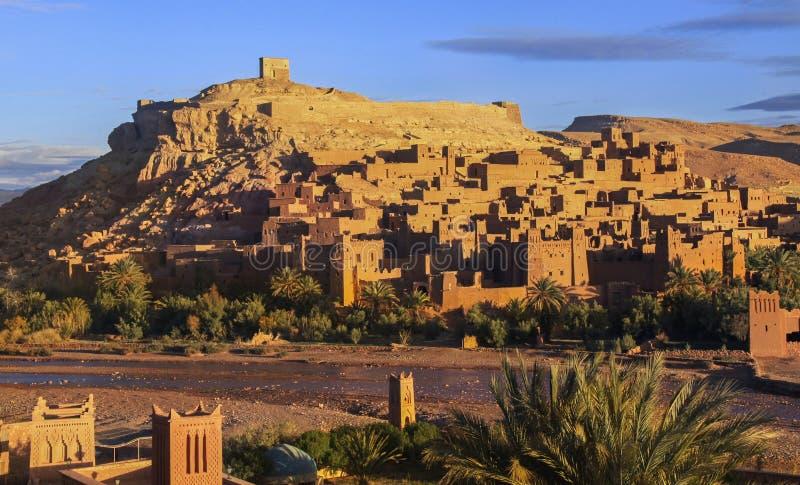 Ait Benhaddou World Heritage Site nel Marocco fotografia stock