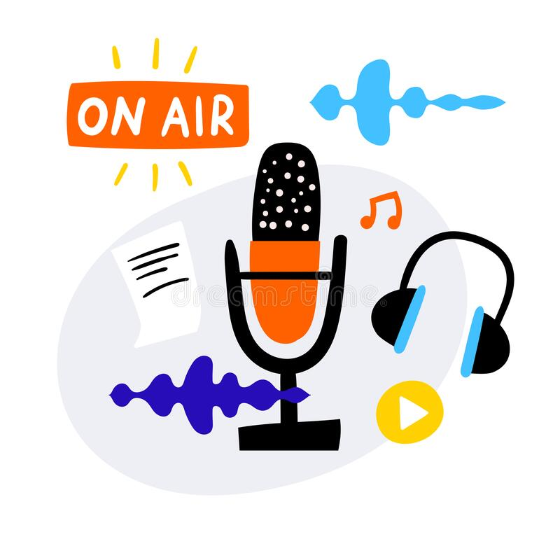 Podcast Icons Stock Illustrations – 2,990 Podcast Icons Stock  Illustrations, Vectors & Clipart - Dreamstime