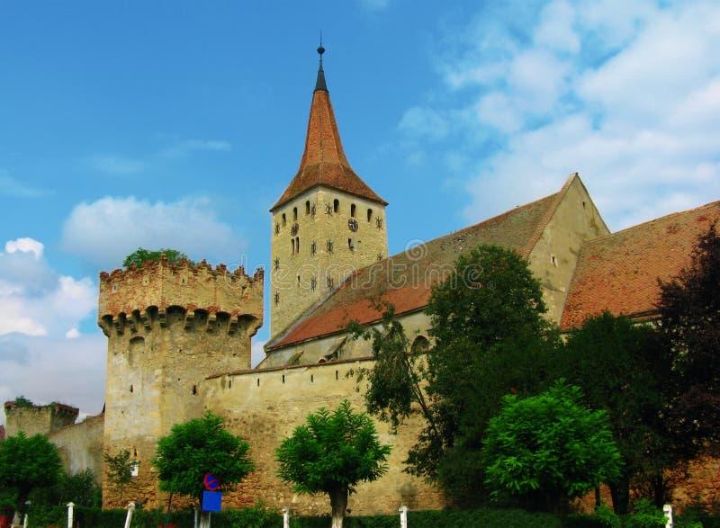 aiud城堡罗马尼亚transilvania 库存图片