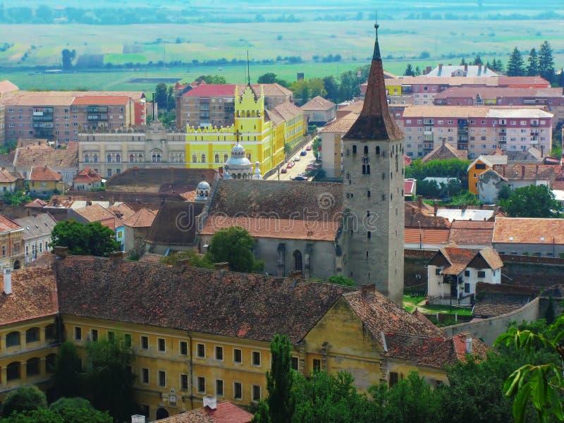 Aiud Citadel, Transilvania, Romania, aerial view