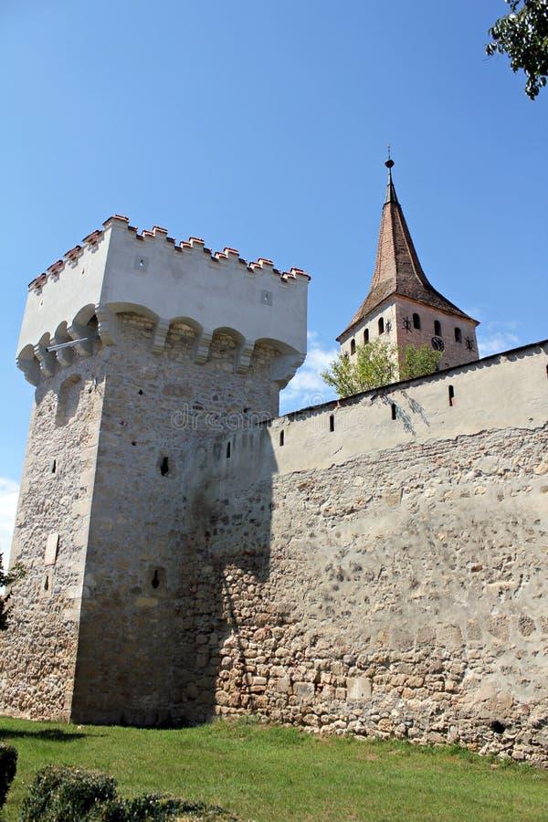 Aiud medeltida fästning royaltyfri fotografi