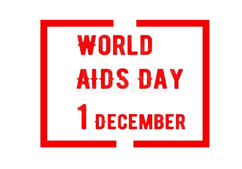 Aiuta il fondo del nastro di consapevolezza Giornata mondiale contro l'AIDS 1° dicembre è una consapevolezza degli aiuti del dayo illustrazione vettoriale