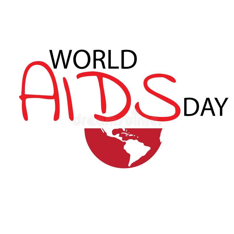 Aiuta il nastro di colore rosso di consapevolezza Concetto di Giornata mondiale contro l'AIDS Illustrazione illustrazione di stock