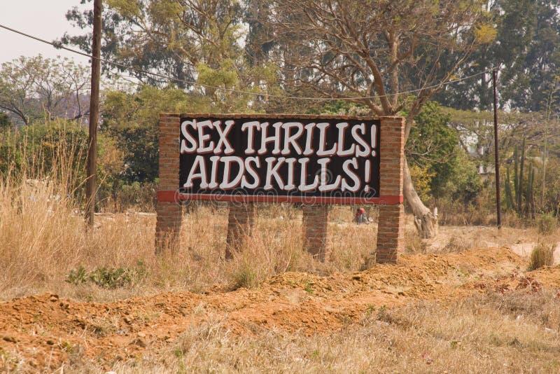 Aiuta il segnale di pericolo Africa fotografia stock libera da diritti