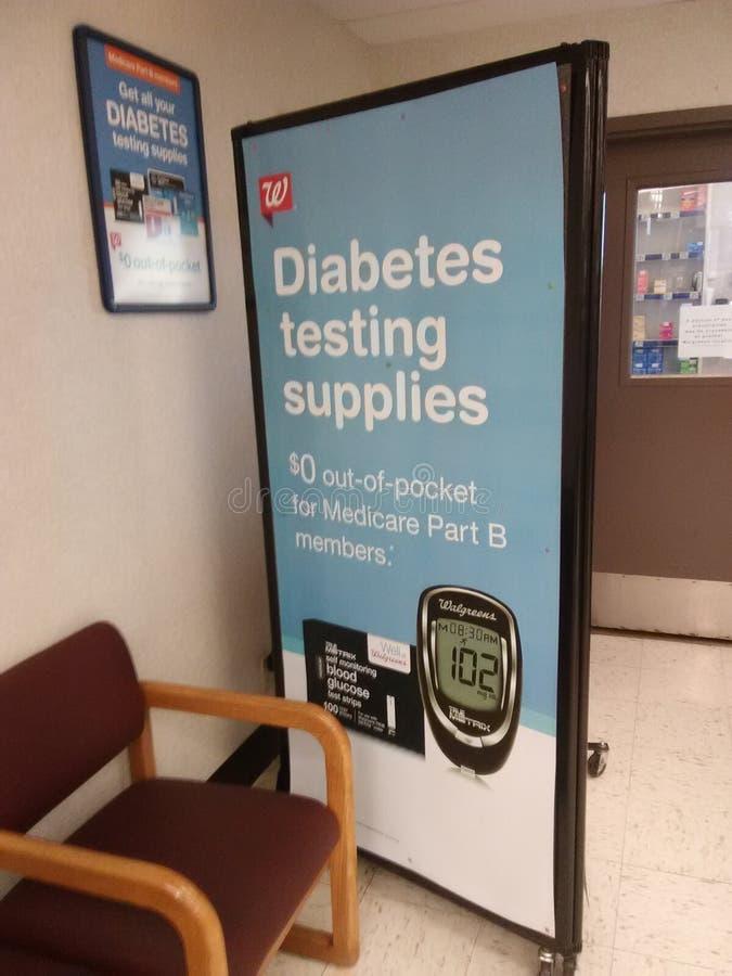 Aiuti fuori i diabetici fotografia stock