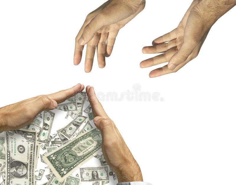 Aiutilo prego! NO! (uomo ricco e indigente) immagini stock