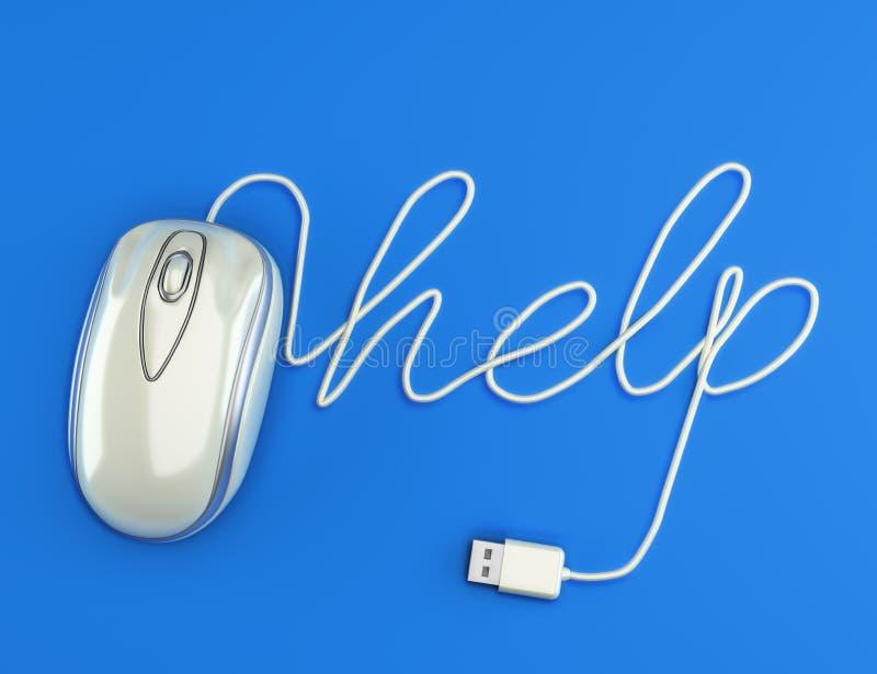 Aiuto del computer illustrazione vettoriale