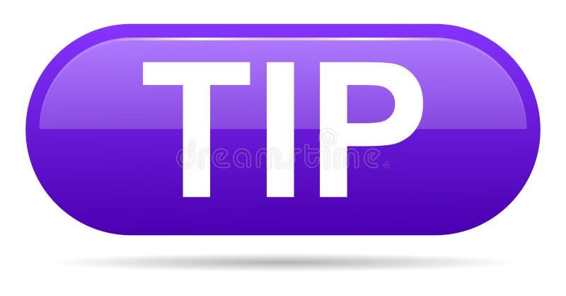 Aiuto del pulsante di punta e concetto porpora di suggerimento illustrazione vettoriale