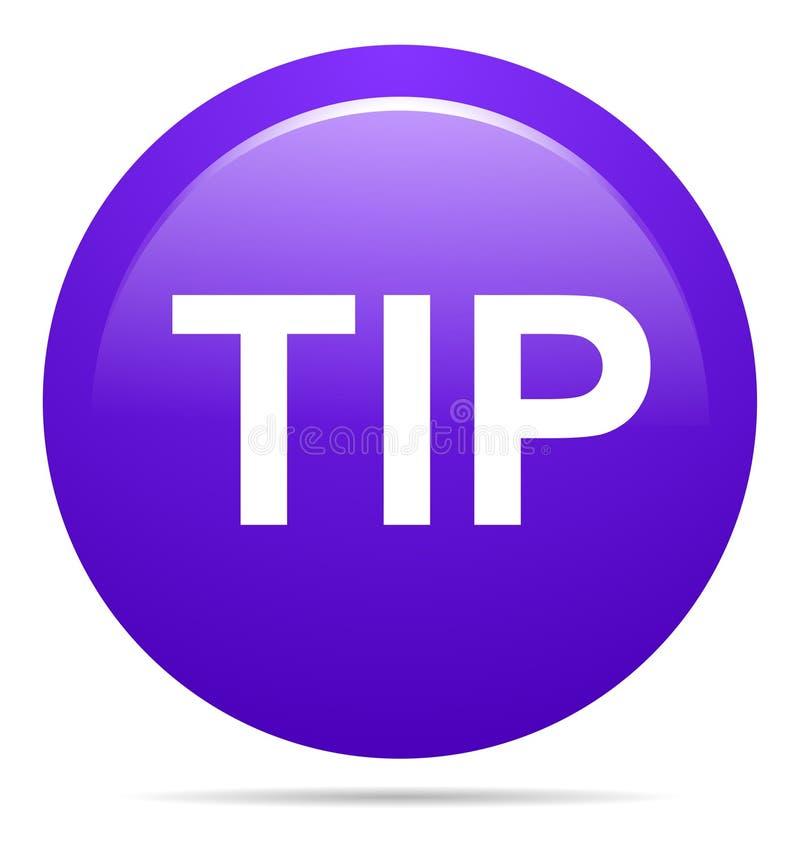 Aiuto del pulsante di punta e concetto rotondi porpora di suggerimento royalty illustrazione gratis
