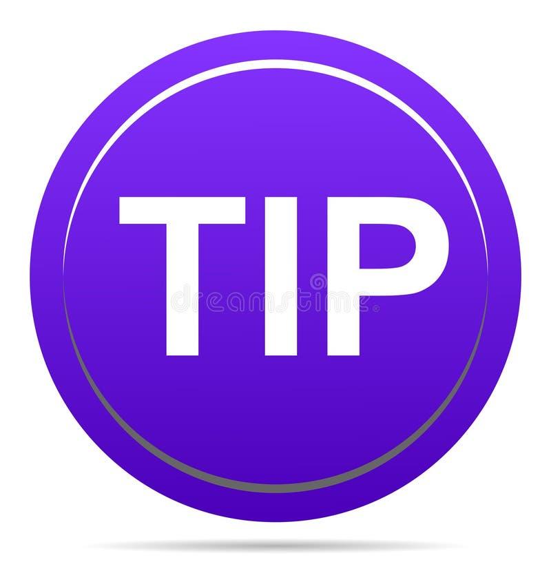 Aiuto del pulsante di punta e concetto rotondi porpora di suggerimento illustrazione vettoriale