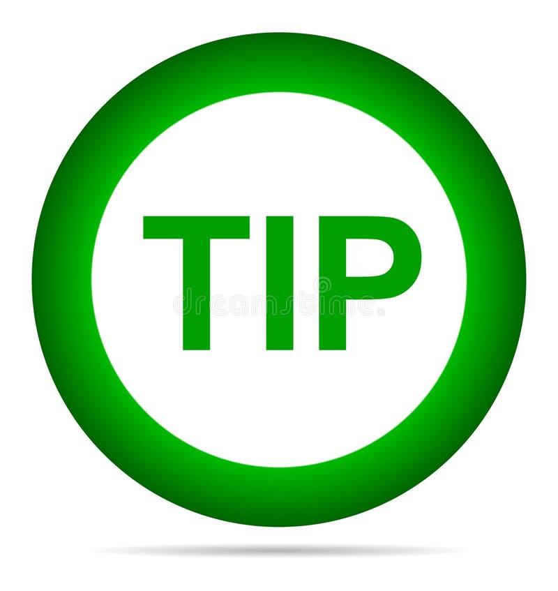 Aiuto del pulsante di punta e concetto rotondi verdi di suggerimento royalty illustrazione gratis