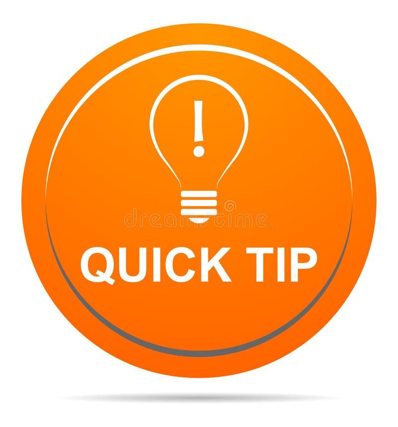 Aiuto del pulsante di punta rapida e concetto arancio di suggerimento royalty illustrazione gratis