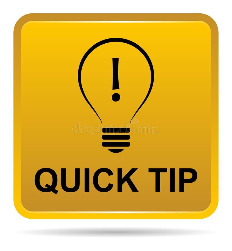 Aiuto del pulsante di punta rapida e concetto gialli dorati di suggerimento royalty illustrazione gratis