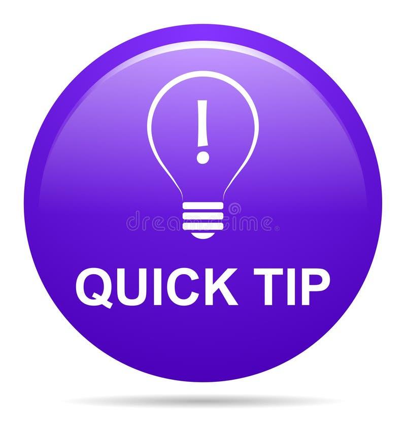 Aiuto del pulsante di punta rapida e concetto porpora di suggerimento illustrazione vettoriale