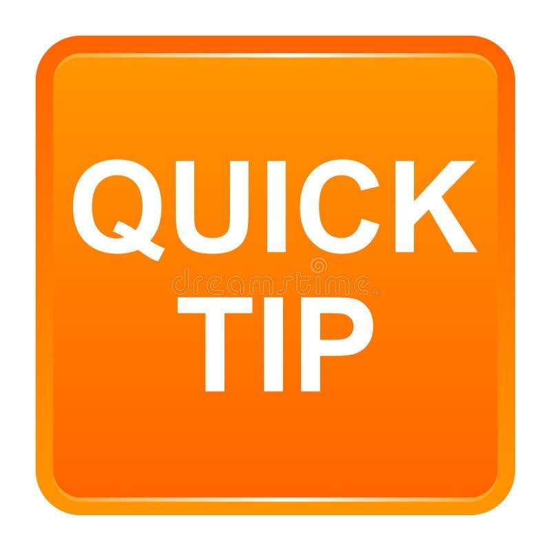 Aiuto del pulsante di punta rapida e concetto quadrati arancio di suggerimento illustrazione vettoriale