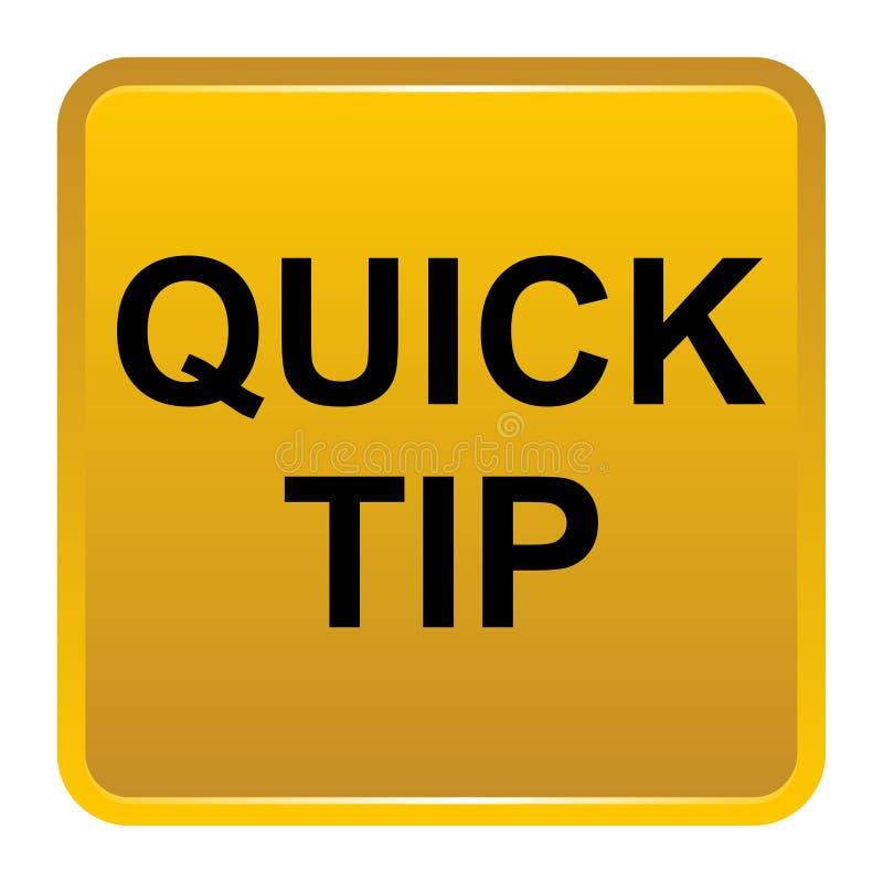 Aiuto del pulsante di punta rapida e concetto quadrati gialli dorati di suggerimento illustrazione di stock