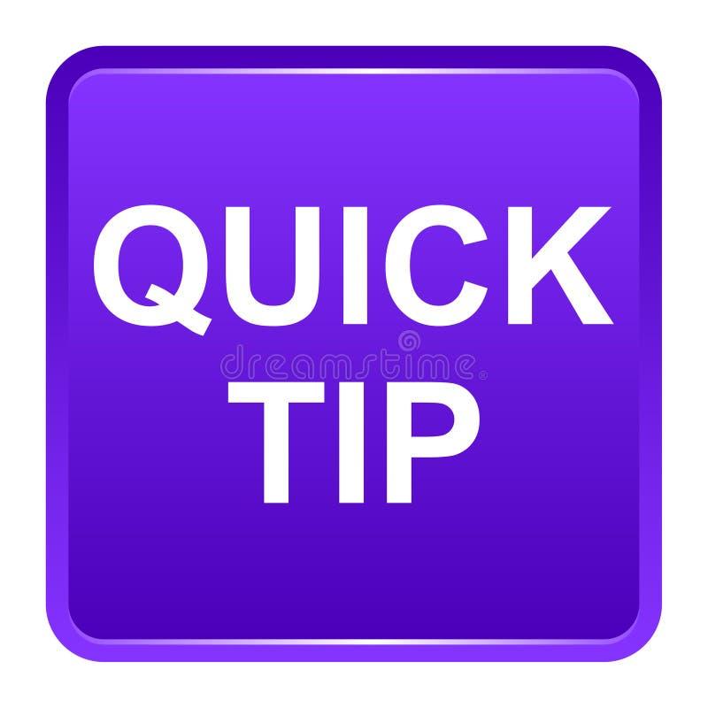 Aiuto del pulsante di punta rapida e concetto quadrati porpora di suggerimento illustrazione di stock