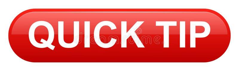 Aiuto del pulsante di punta rapida e concetto rossi di suggerimento illustrazione di stock
