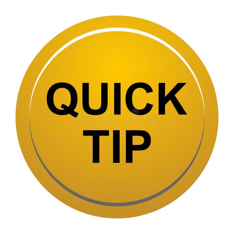 Aiuto del pulsante di punta rapida e concetto rotondi gialli dorati di suggerimento illustrazione vettoriale