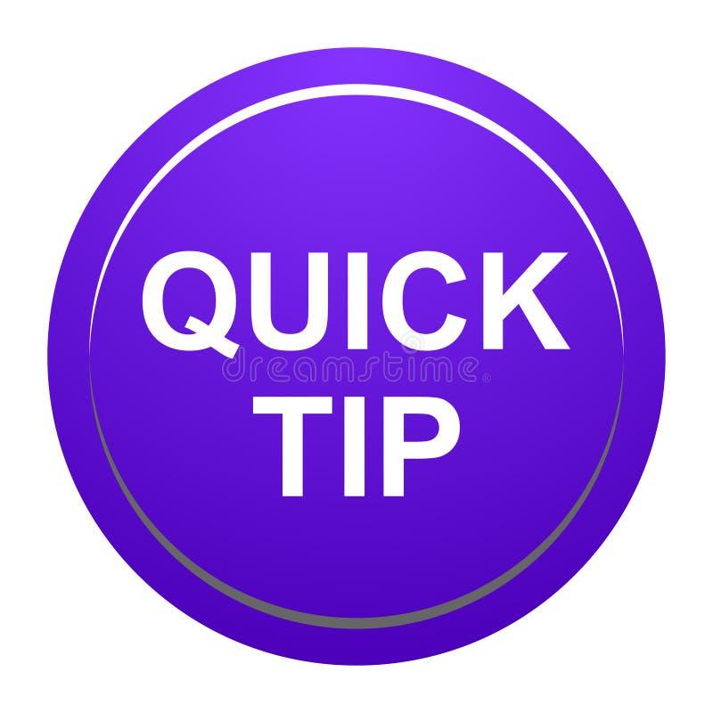 Aiuto del pulsante di punta rapida e concetto rotondi porpora di suggerimento illustrazione vettoriale