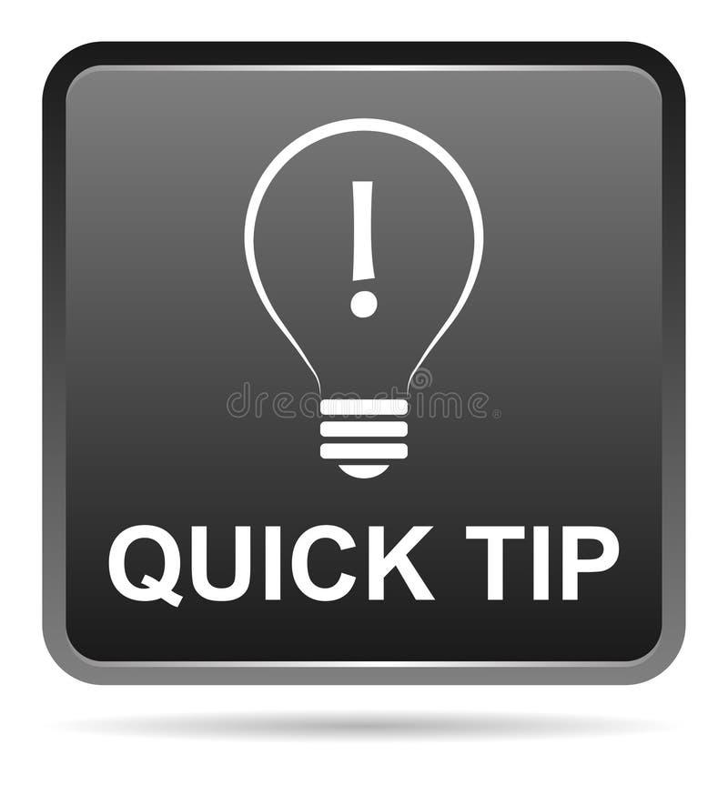 Aiuto del pulsante del nero di punta e concetto rapidi di suggerimento illustrazione di stock