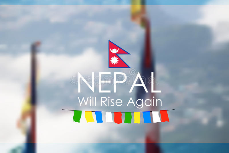 Aiuto di terremoto 2015 del Nepal illustrazione di stock