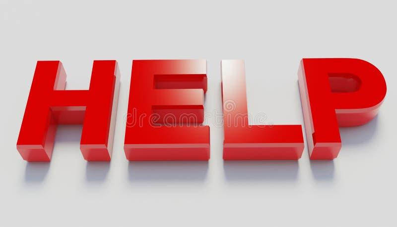 Aiuto rosso animato delle lettere fotografia stock