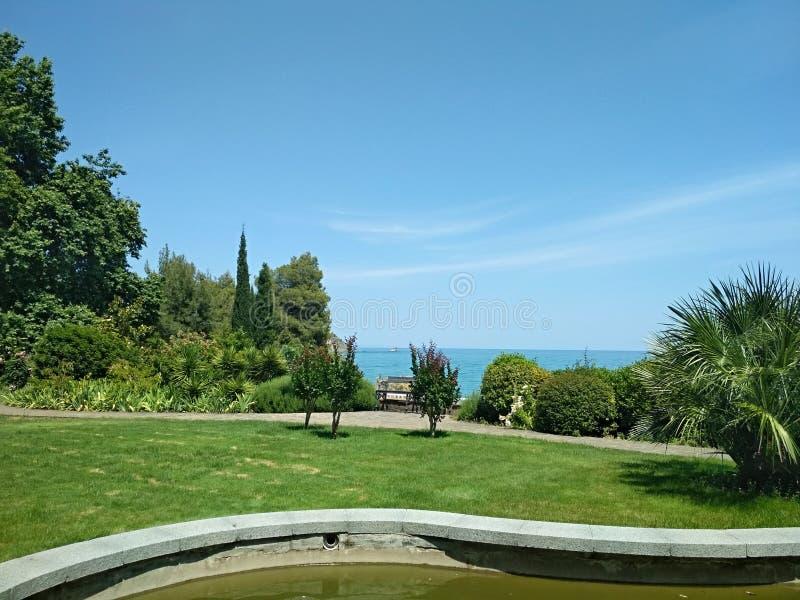 Aivazovsky-Park in Krim lizenzfreies stockbild