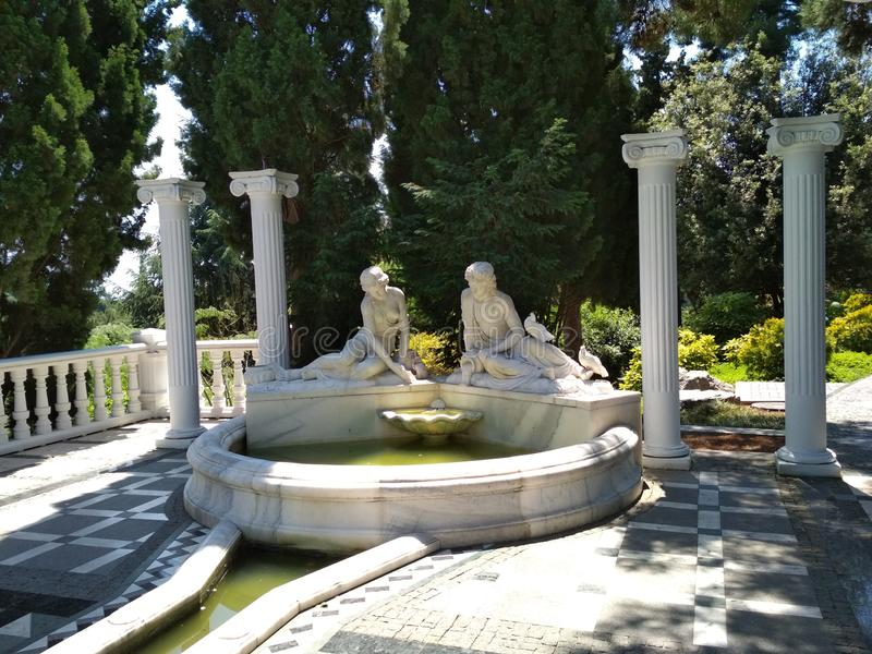 Aivazovsky-Park in Krim stockbilder