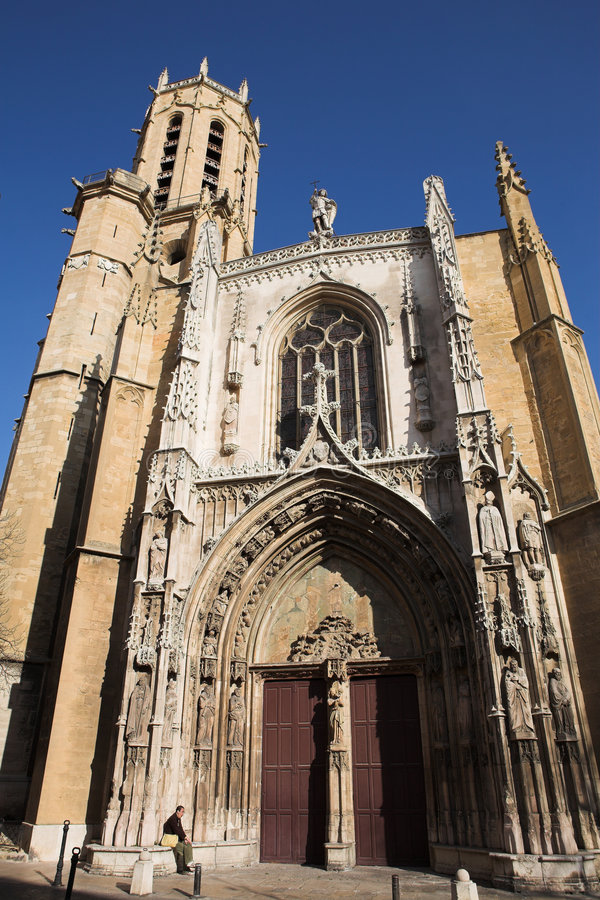 Aix-en-provence #1. The Cathedrale Sainte Sauveur in Aix-en-Provence, France royalty free stock photos
