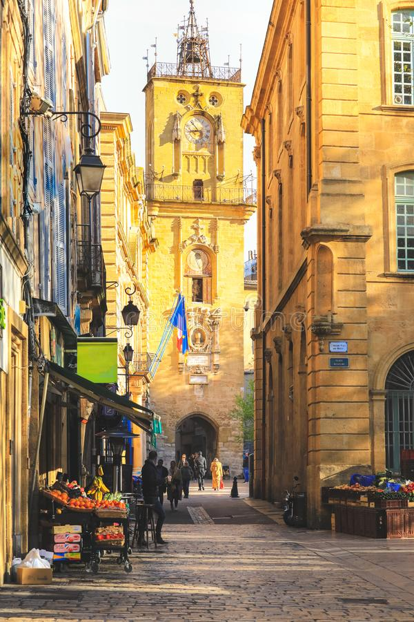 Old town of Aix-en-Provence in France royalty free stock photo