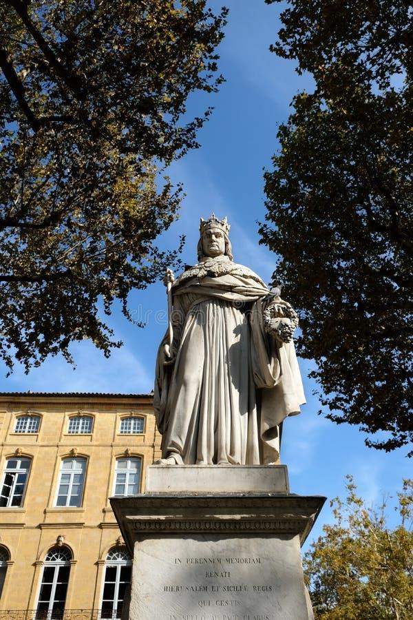 Aix-en-Provence, Francia - 19 ottobre 2017: la statua famosa o immagine stock