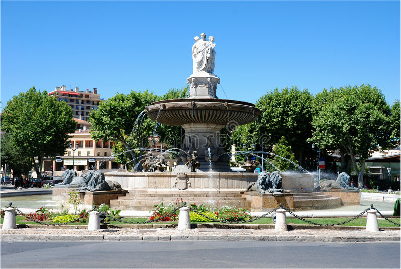 Aix en provence (south of France) stock photos