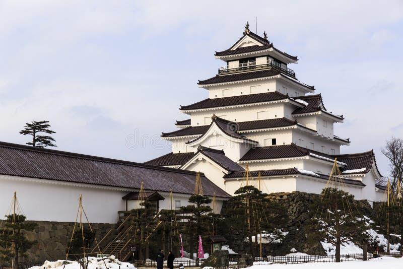 Aizuwakamatsu-Schloss lizenzfreies stockbild