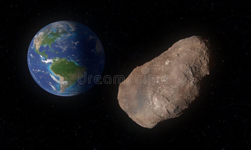 2002 AJ129-asteroïde in kunstwerkconcept royalty-vrije illustratie