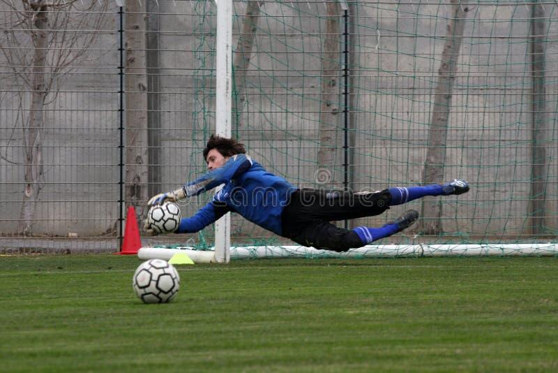 AJ Auxerre-Trainingsfußballlager stockbild