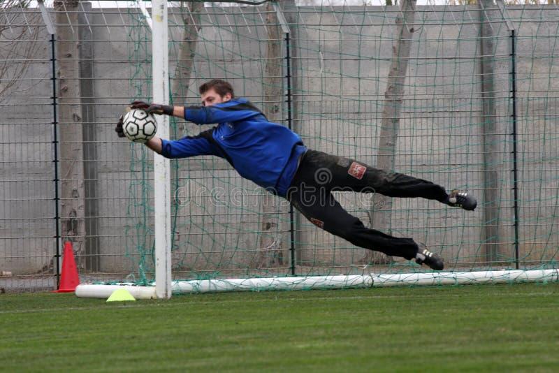 AJ Auxerre-Trainingsfußballnocken stockfotografie