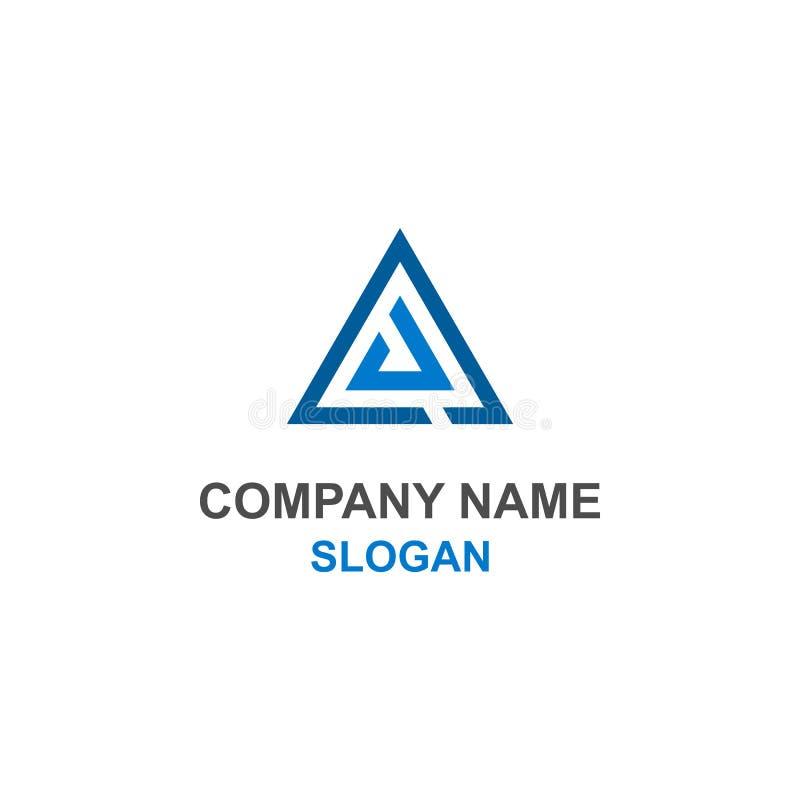 AJ embleem van de brieven aanvankelijke driehoek stock illustratie