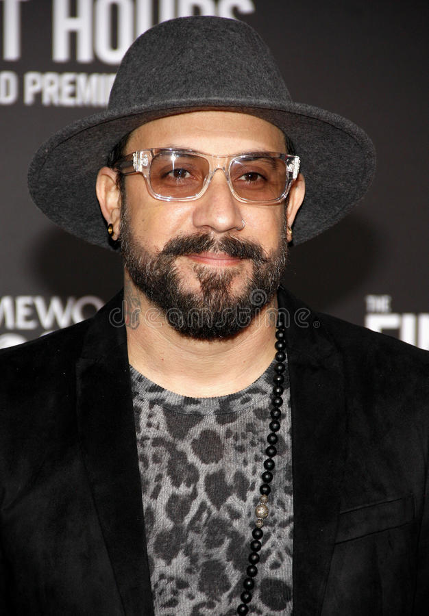 AJ McLean photo stock