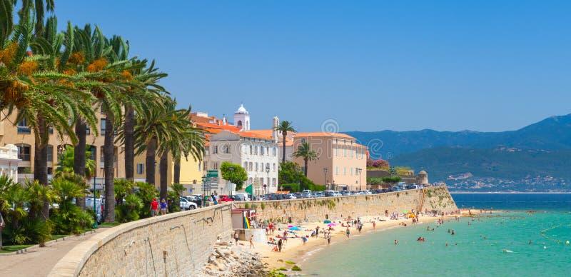 ajaccio Корсика Франция Прибрежный городской пейзаж стоковая фотография rf