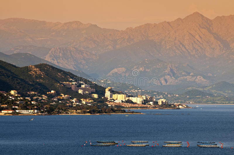 Ajaccio. City in Corsica - France royalty free stock photography