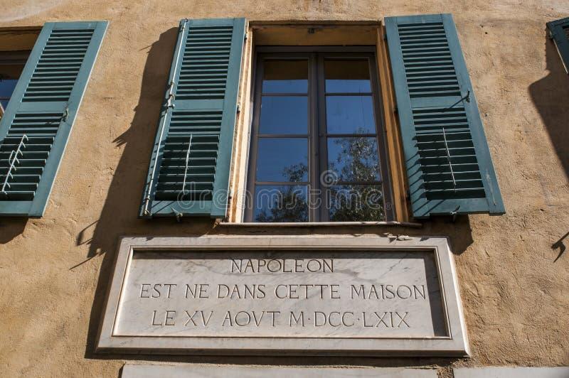 Ajaccio, Citadel, Maison Bonaparte, Corsica, Zuid-Corsica, Zuidelijk Corsica, Frankrijk, Europa stock afbeelding