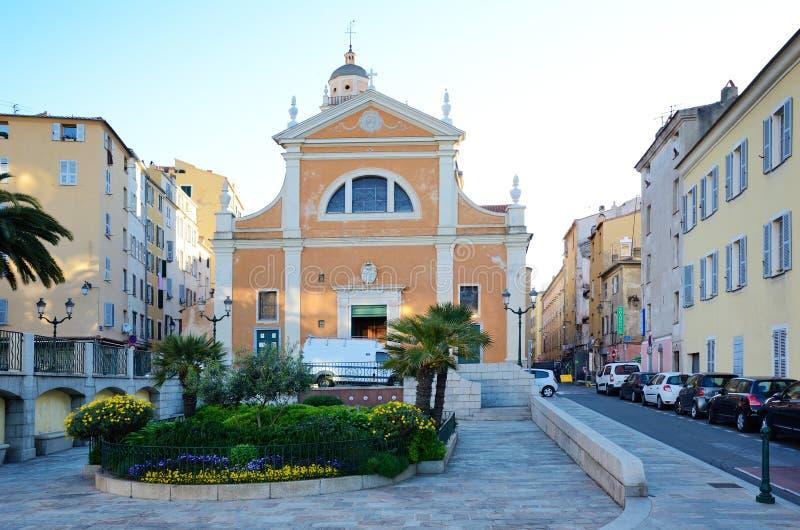 Ajaccio katedra obrazy stock