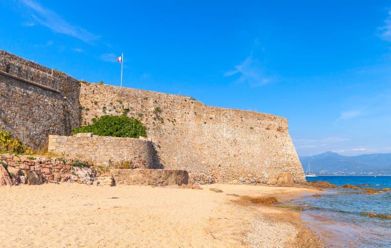Ajaccio, La Citadelle. Old stone fortress, sea coast stock photo