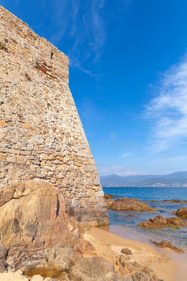 Ajaccio, La Citadelle. Old stone fortress wall royalty free stock photo