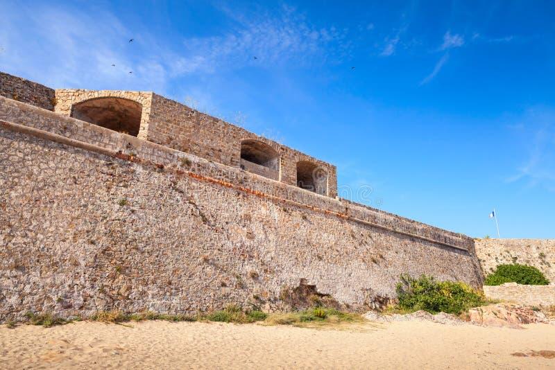 Ajaccio, La Citadelle Oude vesting op de overzeese kosten royalty-vrije stock afbeeldingen