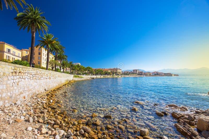 Ajaccio stary centrum miasta, Corsica, Francja, Europa obraz stock