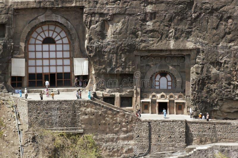 ajanta starożytne buddyjskie świątynie rockowe zdjęcie stock