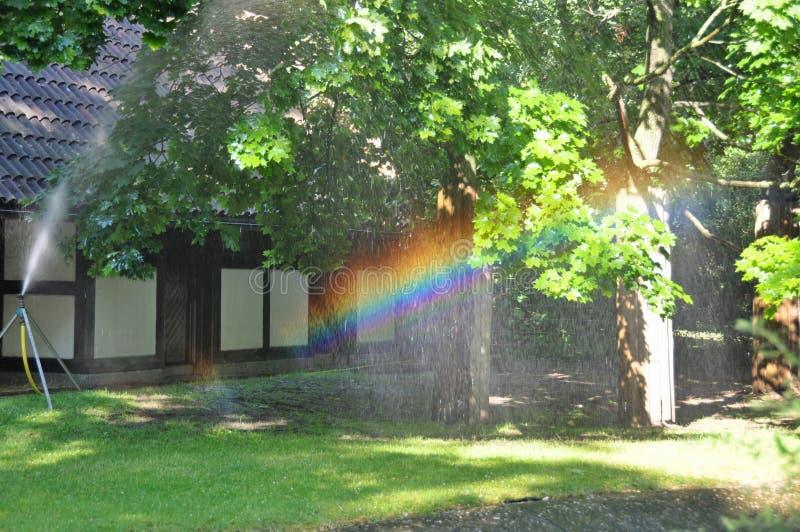 Ajardinar, arco-íris foto de stock