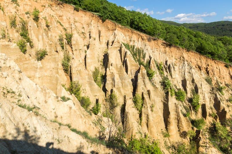 Ajardine con las pirámides de Stob de la formación de roca, montaña de Rila, región de Kyustendil, Bulgaria fotos de archivo libres de regalías